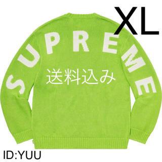 シュプリーム(Supreme)の【XL】SUPREME Back Logo Sweater セーター Green(ニット/セーター)