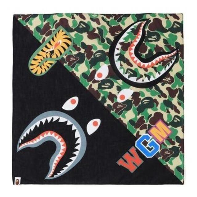 A BATHING APE(アベイシングエイプ)のBAPE ABC SHARK BANDANA エイプ シャーク バンダナ メンズのファッション小物(バンダナ/スカーフ)の商品写真
