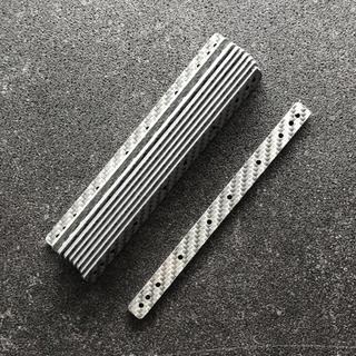 ミニ四駆 カーボンマルチ補強プレート [ ]x10 シルバー(模型/プラモデル)