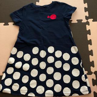 Design Tshirts Store graniph - グラニフ きんぎょがにげた ワンピース 110