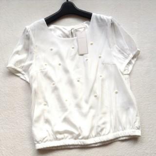 ロディスポット(LODISPOTTO)のロディスポット パールブラウス(シャツ/ブラウス(半袖/袖なし))