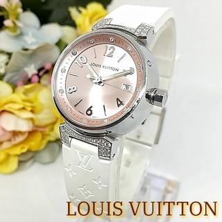 LOUIS VUITTON - 激レア ルイヴィトン タンブール  ラバーベルト レディース 腕時計