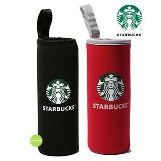 Starbucks Coffee - スターバックス ペットボトルカバー 2コ 黒 レッド 保冷