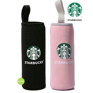 Starbucks Coffee - スターバックス ペットボトルカバー 2コ 黒ピンク 保温