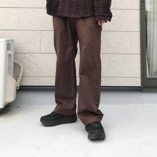 ALLEGE - ALLEGE アレッジ ワーク スラックスパンツ 2 ブラウン