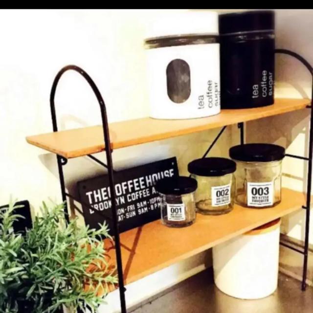 Francfranc(フランフラン)の調味料ラック 調味料スタンド スパイスラック ウッドシェルフ インテリア/住まい/日用品の収納家具(キッチン収納)の商品写真