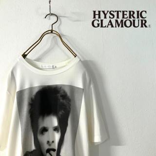 ジィヒステリックトリプルエックス(Thee Hysteric XXX)の【極美品】HYSTERIC GLAMOUR XXX デヴィッド・ボウイ バンt(Tシャツ/カットソー(半袖/袖なし))