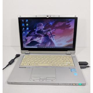 Panasonic - ハイブリッドノート/高速SSD/Win10/360度回転タッチディスプレイ♪