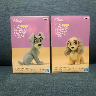 Disney - ディズニー Fluffy PUFFYレディ&トランプ フィギュア わんわん物語