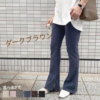 コウベレタス(神戸レタス)の神戸レタス🎀サイドスリットフレアリブパンツ(カジュアルパンツ)