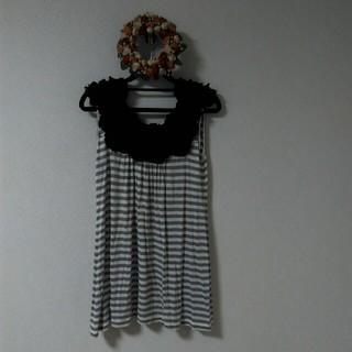 ダブルスタンダードクロージング(DOUBLE STANDARD CLOTHING)のダブルスタンダードクロージング ローズフリルトップス(カットソー(半袖/袖なし))