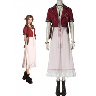 ファイナルファンタジーVII ♡ エアリス ♡ ワンピース ♡ コスプレ(衣装一式)
