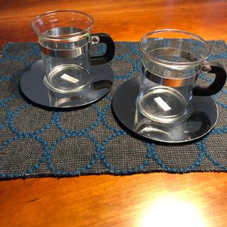 ボダム(bodum)のボダム bodum カップ&ソーサー 耐熱ガラス 2客セット(グラス/カップ)