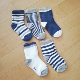 靴下 ソックス 5足セット キッズ 幼児 ボーダー