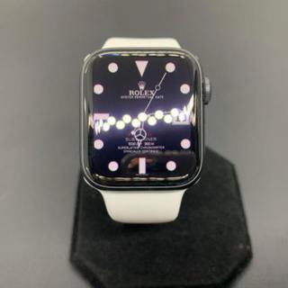 アップルウォッチ(Apple Watch)の【美品】Apple Watch Series 5 GPS 40mm グレイ(腕時計(デジタル))