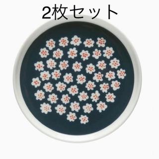 marimekko - 【未使用】マリメッコ 日本限定色 Puketti プレート 13.5cm 2枚