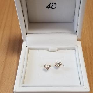 4℃ - K18ピンクゴールド ダイヤモンド ピアス