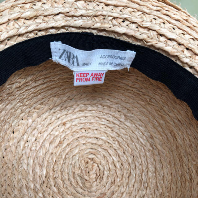 ZARA KIDS(ザラキッズ)のzara麦わら帽子 キッズ/ベビー/マタニティのこども用ファッション小物(帽子)の商品写真