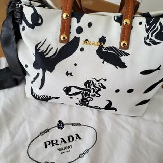 PRADA - PRADA プラダ マーメイド柄ショルダーバッグ