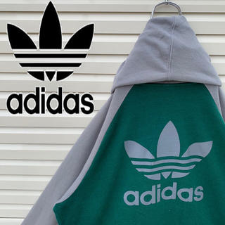 adidas - アディダス パーカー スウェット バックロゴ‼︎ 90s ラグラン ゆるダボ