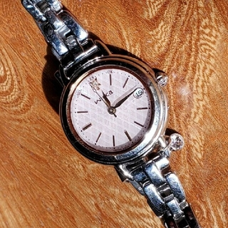 CITIZEN - wicca スワロフスキーチャーム付き 電波ソーラー時計