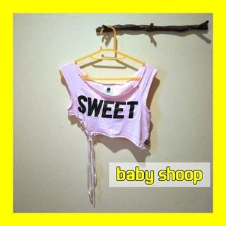 ベイビーシュープ(baby shoop)のbaby Shoop ベイビーシュープ ショート丈アシンメトリータンクトップ(タンクトップ)