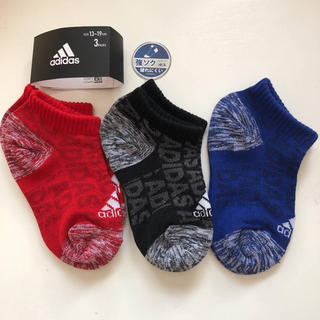 adidas - adidas 強ソク ベビーソックス ショートソックス13〜19cm 3足