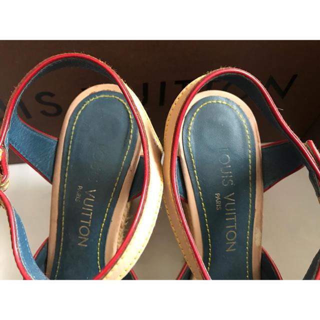 LOUIS VUITTON(ルイヴィトン)のルイヴィトン  デニムウェッジサンダル レア 36.5  レディースの靴/シューズ(サンダル)の商品写真