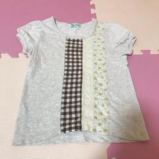 ハッカキッズ(hakka kids)のhakka kids パッチワーク トップス 120 ハッカ 綿 切り替え(Tシャツ/カットソー)