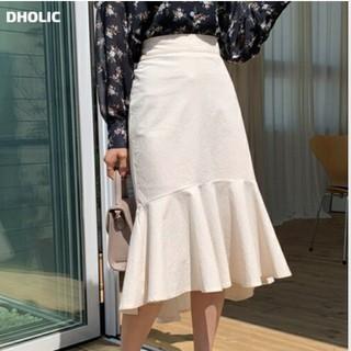 ディーホリック(dholic)のコットンマーメイドスカート(ひざ丈スカート)