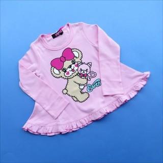 EARTHMAGIC - 直営店限定 110 アースマジック マフィー Aライン リボン 長袖 Tシャツ
