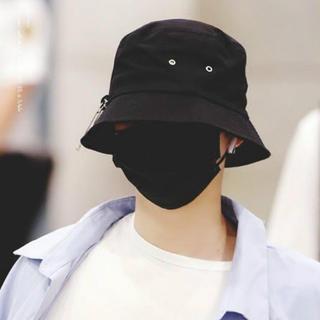 ★新品・未使用★ バケットハット 安全ピンデザイン 韓国ファッション