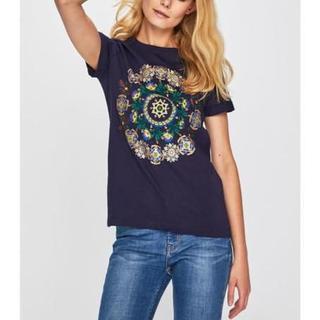 デシグアル(DESIGUAL)の新品 タグ付き XS Tシャツ デシグアル ブルー(Tシャツ(半袖/袖なし))