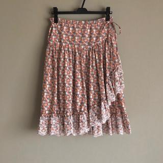 アクサラ(AXARA)のレア!美品🔹フランス インポート AXARA アクサラ 花柄 ラップ スカート(ロングスカート)