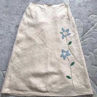 ホコモモラ(Jocomomola)のjocomomola麻スカート(ロングスカート)