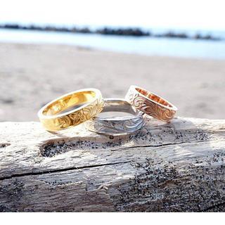 ハワイアンジュエリー シルバー K14 ゴールド ピンク(リング(指輪))