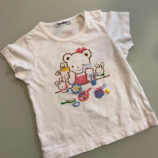 familiar - 90㎝ ファミリア 白Tシャツ☆
