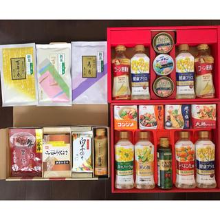 アジノモト(味の素)の油&調味料&ツナ缶&茶漬け&そぼろ&だし&醤油&茶葉&白子海苔 など セット(その他)