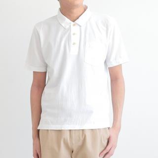 マーガレットハウエル(MARGARET HOWELL)のRINEN ポロシャツ 白 S(1)サイズ(ポロシャツ)
