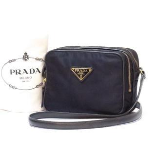 PRADA - プラダ ナイロン&レザー ショルダーバッグ 紺 ネイビー PRADA