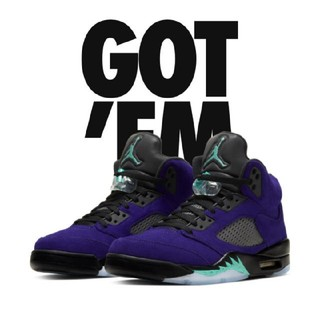 NIKE - 28.5CM NIKE AIR JORDAN 5 PURPLE GRAPE
