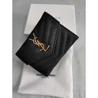 イヴサンローランボーテ(Yves Saint Laurent Beaute)の美品イヴ♪サンローラ 折り財♥布 ブラック Y♪S♪L 小銭♪入れ(財布)
