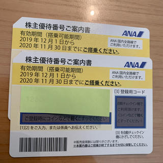 エーエヌエー(ゼンニッポンクウユ)(ANA(全日本空輸))のANA株主優待券 2枚(航空券)
