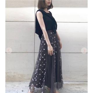 COCO DEAL - ココディール タグ付き新品チュール×刺繍レース接ぎスカート