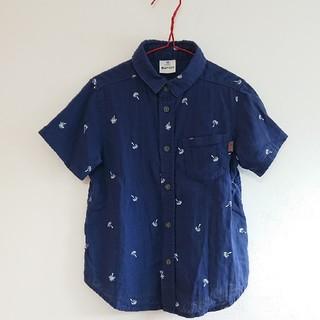 エーアーベー(eaB)のSLAP SLIP ヤシの木プリント前開きシャツ(Tシャツ/カットソー)