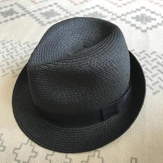 ジーユー(GU)のGU 黒 帽子 ハット(ハット)