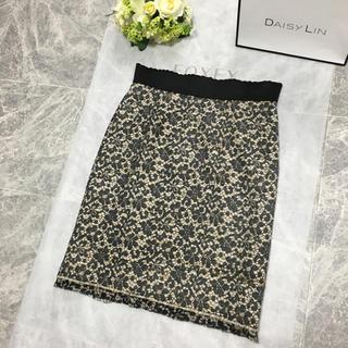 ドルチェアンドガッバーナ(DOLCE&GABBANA)の美品 DOLCE&GABBANA ドルチェ レース刺繍 スカート(ひざ丈スカート)