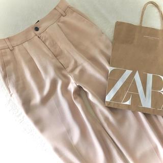 ZARA - ZARA xsピンクベージュゆったりシルエットパンツ☺︎未使用品