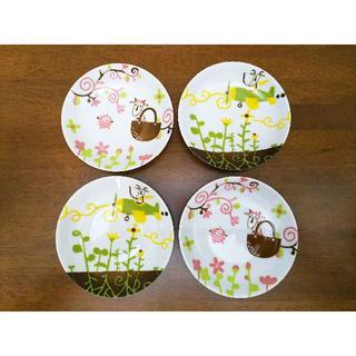 カルディ(KALDI)の未使用 カルディ ヤギべえ モモめえ 小皿 4枚セット 御手塩 おてしょ まめ皿(食器)
