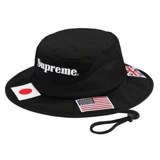 シュプリーム(Supreme)のSuprem Flags Boonie 黒(ハット)